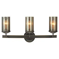 Sea Gull Sfera Three Light Wall / Bath Vanity In Autumn Bronze With Mercury Glass