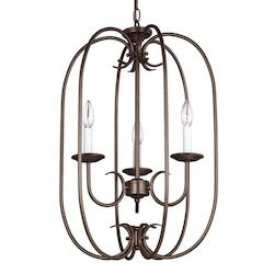 Sea Gull Holman Three Light Hall / Foyer In Bell Metal Bronze
