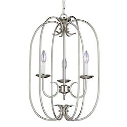 Sea Gull Holman Three Light Hall / Foyer In Brushed Nickel