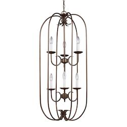 Sea Gull Holman Six Light Hall / Foyer In Bell Metal Bronze