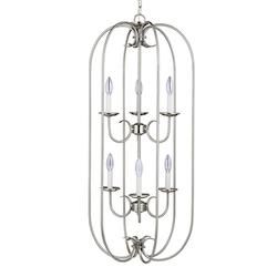 Sea Gull Holman Six Light Hall / Foyer In Brushed Nickel