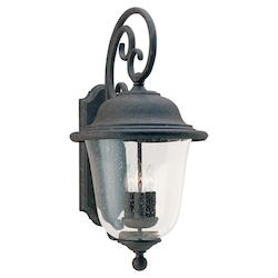 Sea Gull Open Box Three-Light Trafalgar Outdoor Wall Lantern