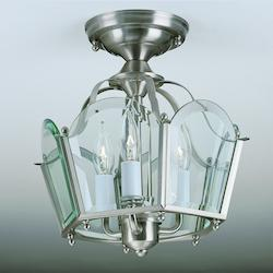 Norwell Brass Cage Semi-Flush Mount