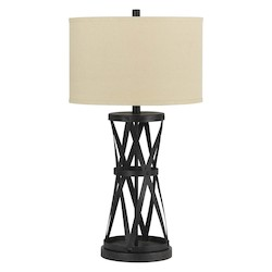 CAL Lighting Dark Bronze Single Light 150 Watt Passo Iron Table Lamp