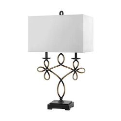 CAL Lighting Patina Norwalk 1 Light Table Lamp with 3-Way Switch
