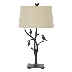 CAL Lighting Oak Medora 1 Light Table Lamp with 3-Way Switch