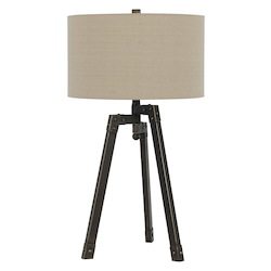 CAL Lighting Iron Tripod 1 Light Table Lamp