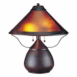 CAL Lighting 40W X 2 Mica Table Lamp