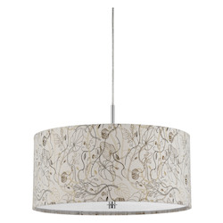 CAL Lighting Floral Nianda 2 Light Pendant with Custom Patterned Shade