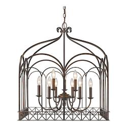Golden Fired Bronze Gateway 9 Light Candle Style Chandelier