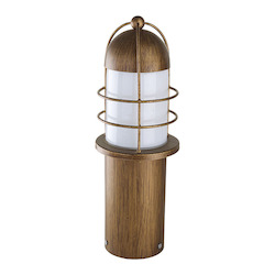 Eglo 1X60W Outdoor Post Light W/ Copper Finish & Opal Glass