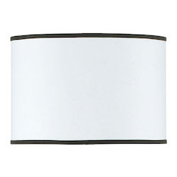 CAL Lighting 16in.W x 10.5in.H Contemporary / Modern Drum Hardback Fabric Shade with Trims