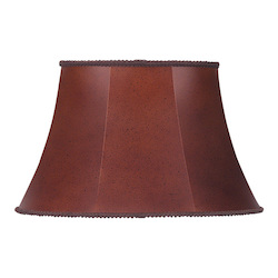 CAL Lighting Oval Leatherette Shade