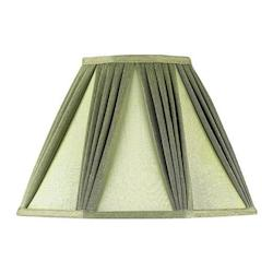 CAL Lighting Drum Black Faux Silk Shade
