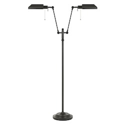 CAL Lighting Open Box 100W X 2 Dual Light Pharmacy Floor Lamp With Metal Shade