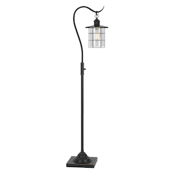 CAL Lighting 60W Silverton Floor Lamp