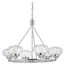 CAL Lighting 60W X 6 Maywood Glass Chandelier