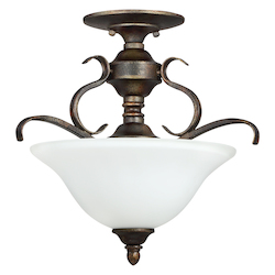 Craftmade 3 Light Convertible Semi Flush