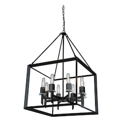 Artcraft Vineyard Matte Black Chandelier