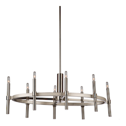 Artcraft Encore 8 Light  Polished Nickel Chandelier