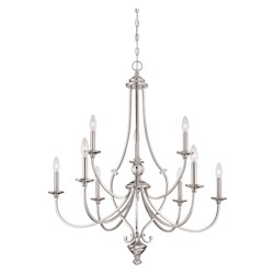 Minka-Lavery Savannah Row 9Lt Chandelier
