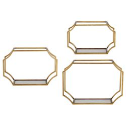 Uttermost Uttermost Lindee Gold Wall Shelves S/3