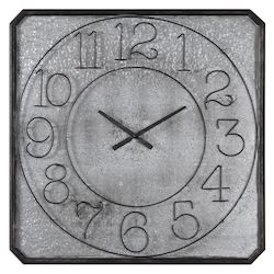 Uttermost Uttermost Dominic Galvanized Metal Wall Clock