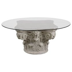 Uttermost Uttermost Corinthian Aged Stone Accent Table
