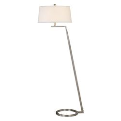 Uttermost Uttermost Ordino Modern Nickel Floor Lamp