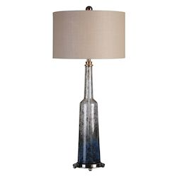 Uttermost Uttermost Trikala Clear Blue Glass Lamp