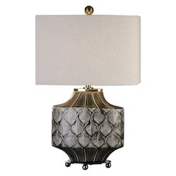 Uttermost Uttermost Kavala Crackled Charcoal Lamp