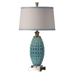 Uttermost Uttermost Villas Sky Blue Ceramic Lamp