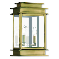 Livex Lighting Princeton Antique Brass Wall Lantern