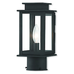 Livex Lighting Princeton Black Post Lantern