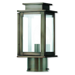 Livex Lighting Princeton Vintage Pewter Post Lantern