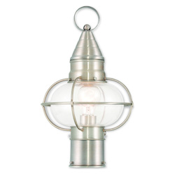Livex Lighting Newburyport Brushed Nickel Post Lantern