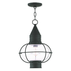 Livex Lighting Newburyport Black Chain Lantern