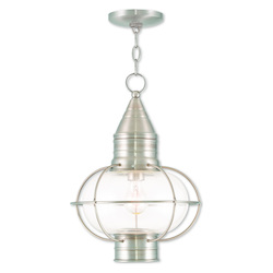Livex Lighting Newburyport Brushed Nickel Chain Lantern