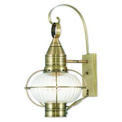 Livex Lighting Newburyport Antique Brass Wall Lantern