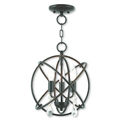 Livex Lighting Convertible Mini Chandelier/Ceiling Mount