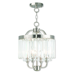 Livex Lighting Ashton Brushed Nickel Convertible Mini Chandelier/Ceiling Mount