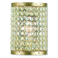 Livex Lighting Grammercy Hand Applied Winter Gold Ada Wall Sconce