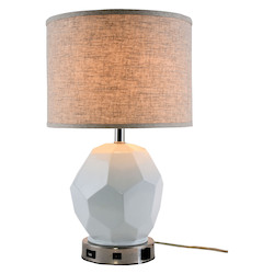 Elegant Decor TL3007 Brio Collection 1-Light Polished Nickel Finish Table Lamp