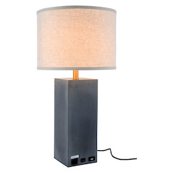 Elegant Decor TL3008 Brio Collection 1-Light Concrete Finish Table Lamp