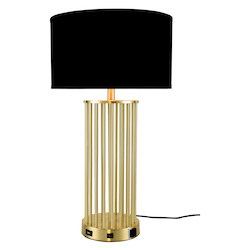 Elegant Decor TL3010 Brio Collection 1-Light Brushed Brass Finish Table Lamp
