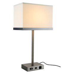 Elegant Decor TL3011 Brio Collection 1-Light Vintage Nickel Finish Table Lamp