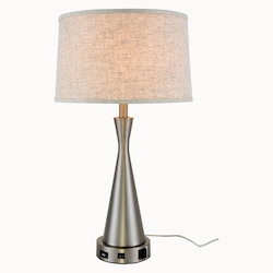 Elegant Decor TL3014 Brio Collection 1-Light Vintage Nickel Finish Table Lamp