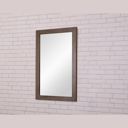Elegant Decor VM-2003 22 In. X 32 In. Wall Mirror In Weathered Oak