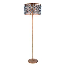 Urban Classic Madison Collection Floor Lamp D:20In. H:72In. Lt:4 Golden Iron Finish Royal
