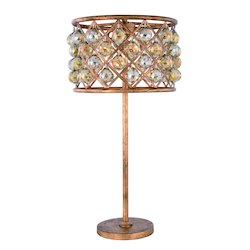 Urban Classic Madison Collection Table Lamp D:15.5In. H:32In. Lt:3 Golden Iron Finish Roya